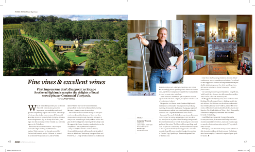 Escape Magazine_CentennialVineyards